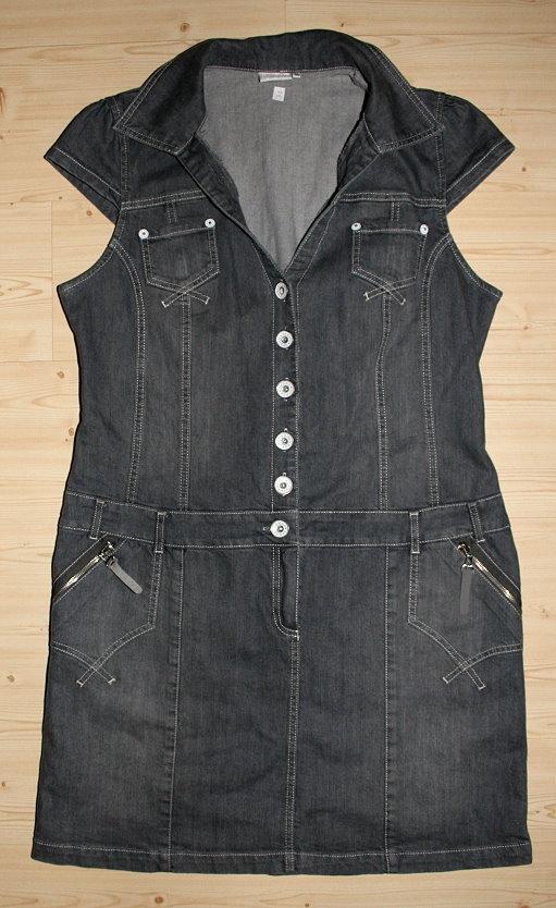 liberty jeanskleid jeanstunika tunika kleid grau libertykleid longweste gr 46 ebay. Black Bedroom Furniture Sets. Home Design Ideas