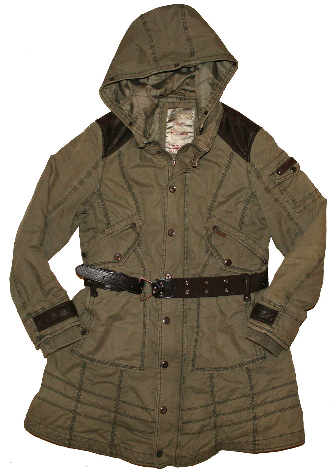 jetlag parka steppmantel khaki olive kapuze wintermantel gr xxl 46 48 ebay. Black Bedroom Furniture Sets. Home Design Ideas